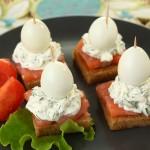 Бутерброды с перепелиными яйцами