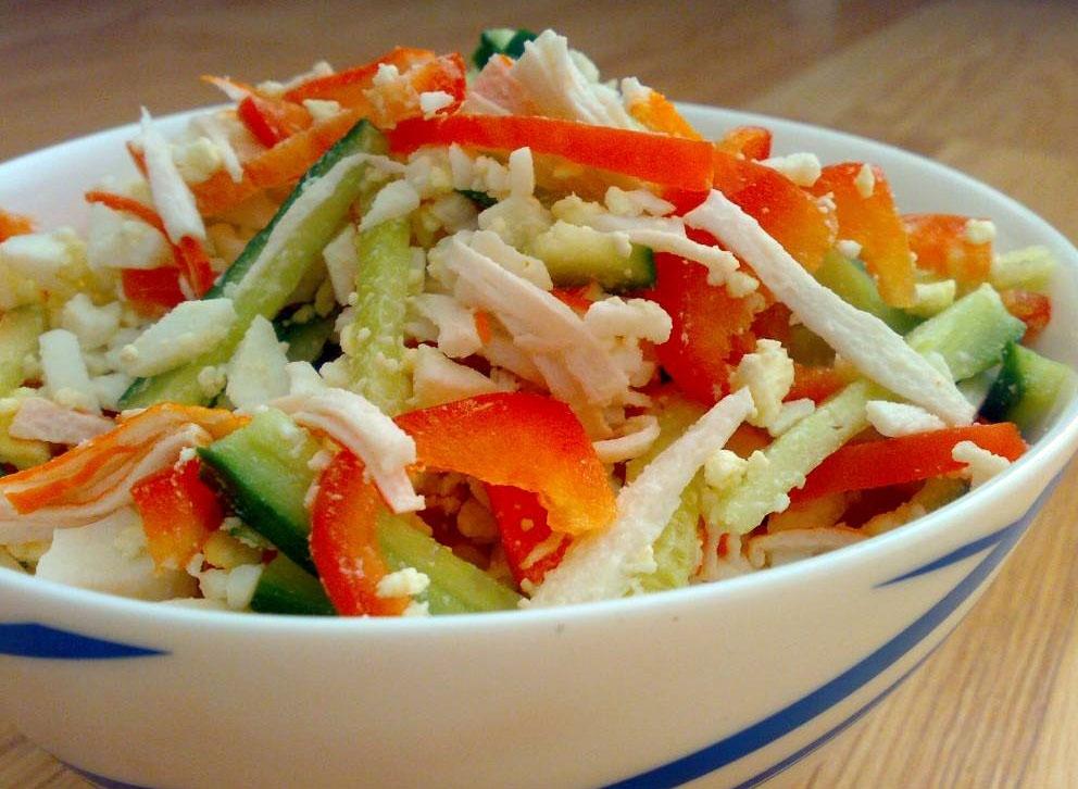 рецепт салат с перцами