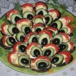 Красивая баклажанная закуска «Хвост павлина»